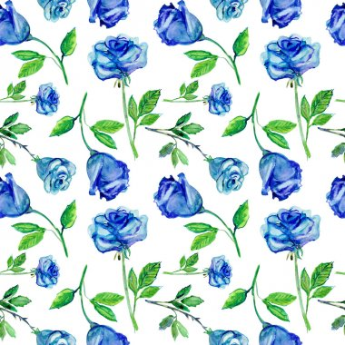Roses Seamless Pattern. Watercolor painting stock vector
