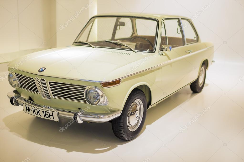 Munich, Germany- june 17, 2012: BMW 1600 class coupe automobile on Stand in BMW Museum in June 17, 2012, Munich, Republic of Germany