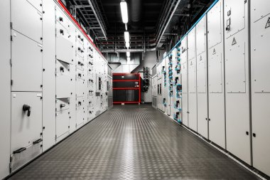 Electric voltage and amperage control room