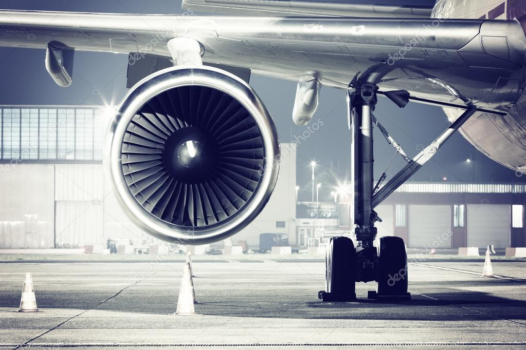 A airplane turbine detail stock vector
