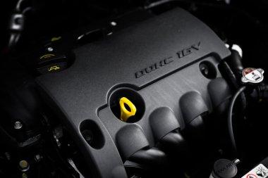 car engine dipstick, plastic engine casing