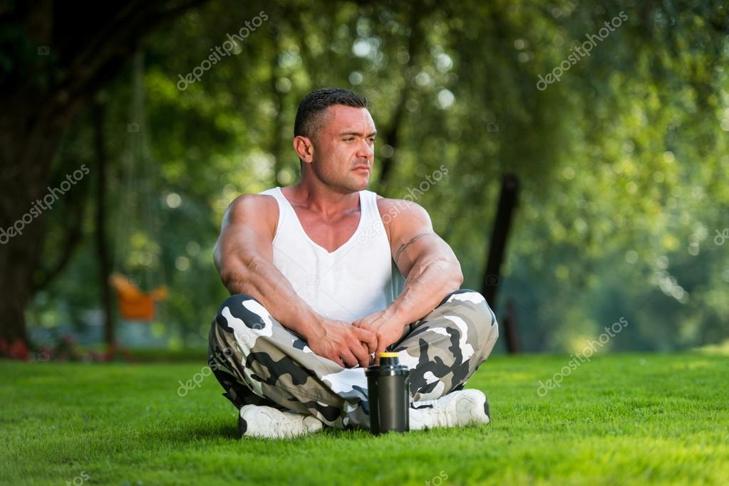 Man Resting And Relaxing Nature