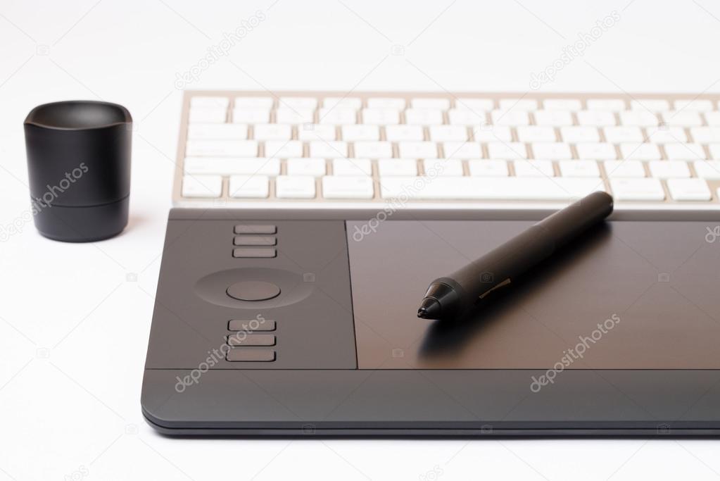 digitale grafik tablett mit zeichenstift stockfoto ibrak 49513909. Black Bedroom Furniture Sets. Home Design Ideas
