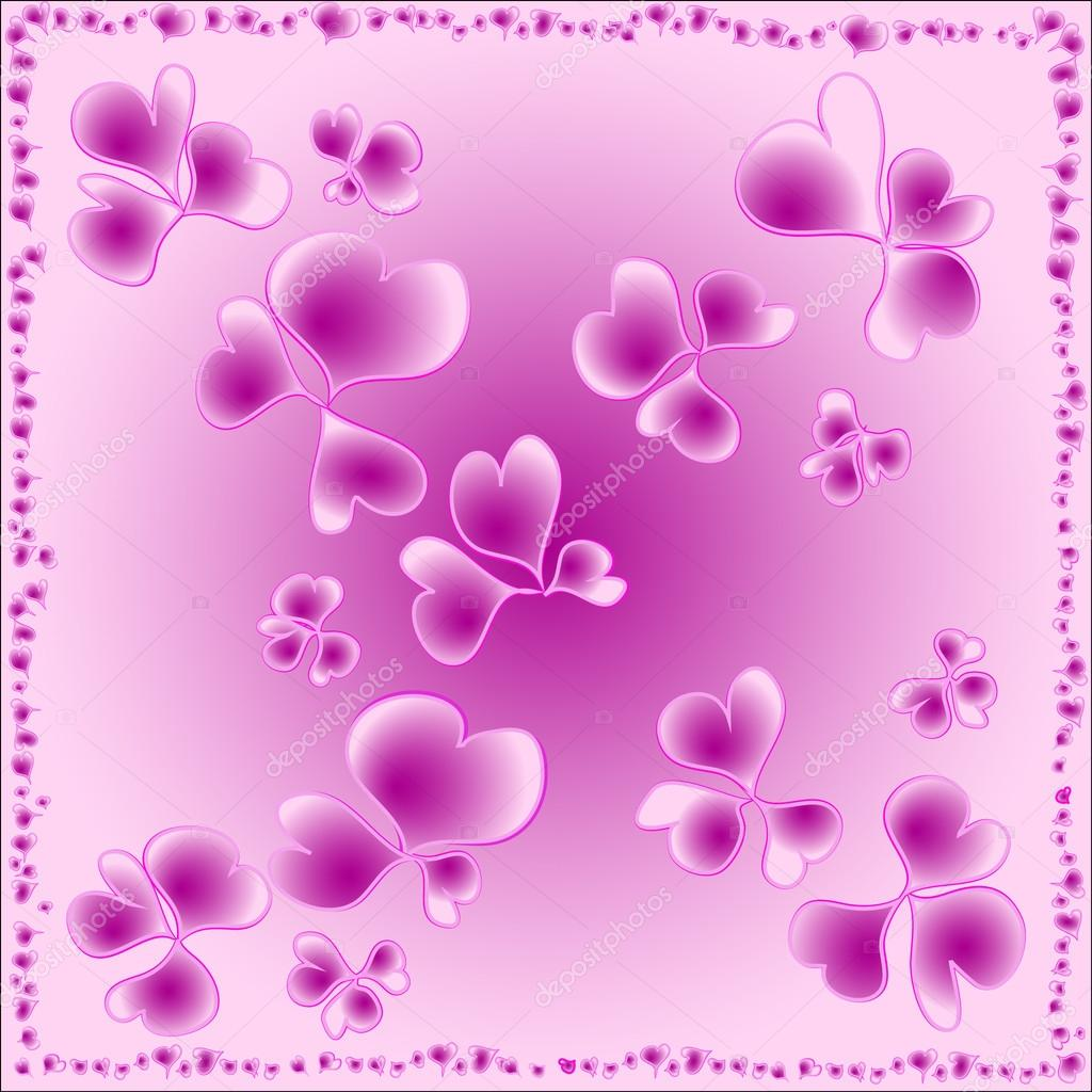Pink flowers of hearts for wallpaper stock vector ilonitta 25949547 pink flowers of hearts for wallpaper stock vector mightylinksfo