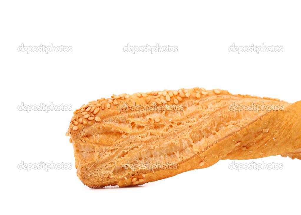 Só assado crocante massa folhada com gergelim — Fotografias de Stock