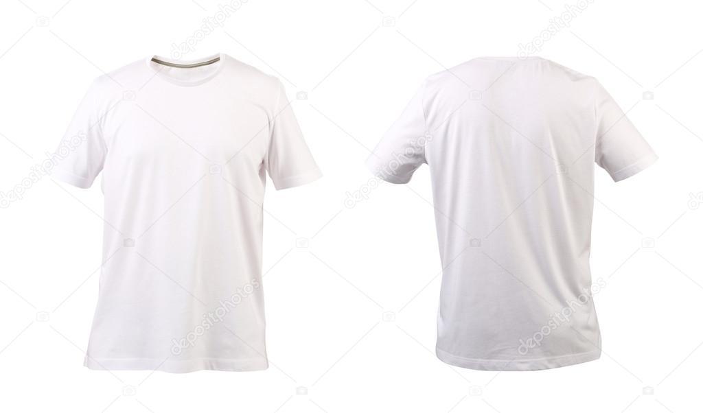 Foto: camiseta delantera y trasera camiseta blanca. parte de