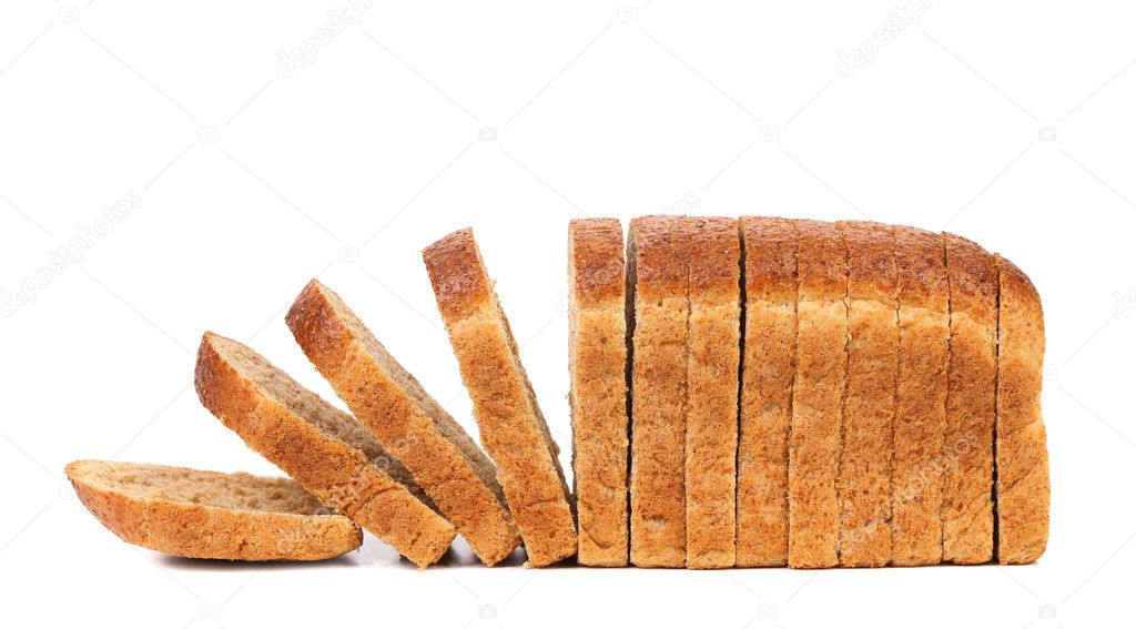 Sliced bread isolated on a white background stock vector