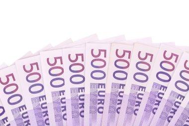 Fan of 500 Euro euro bills.