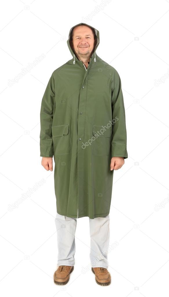 con largo abrigo con hombre verde hombre verde largo abrigo 5nB4q06wP6