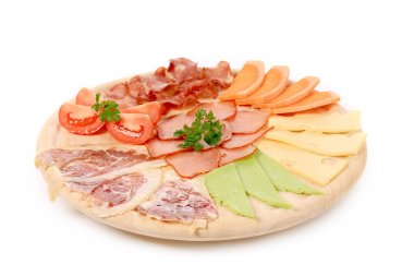 Meat and cheese platter.