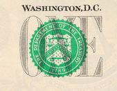 makro obrázek dolaru