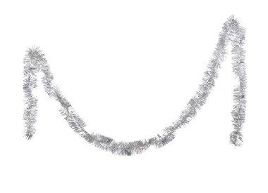 Christmas silver tinsel