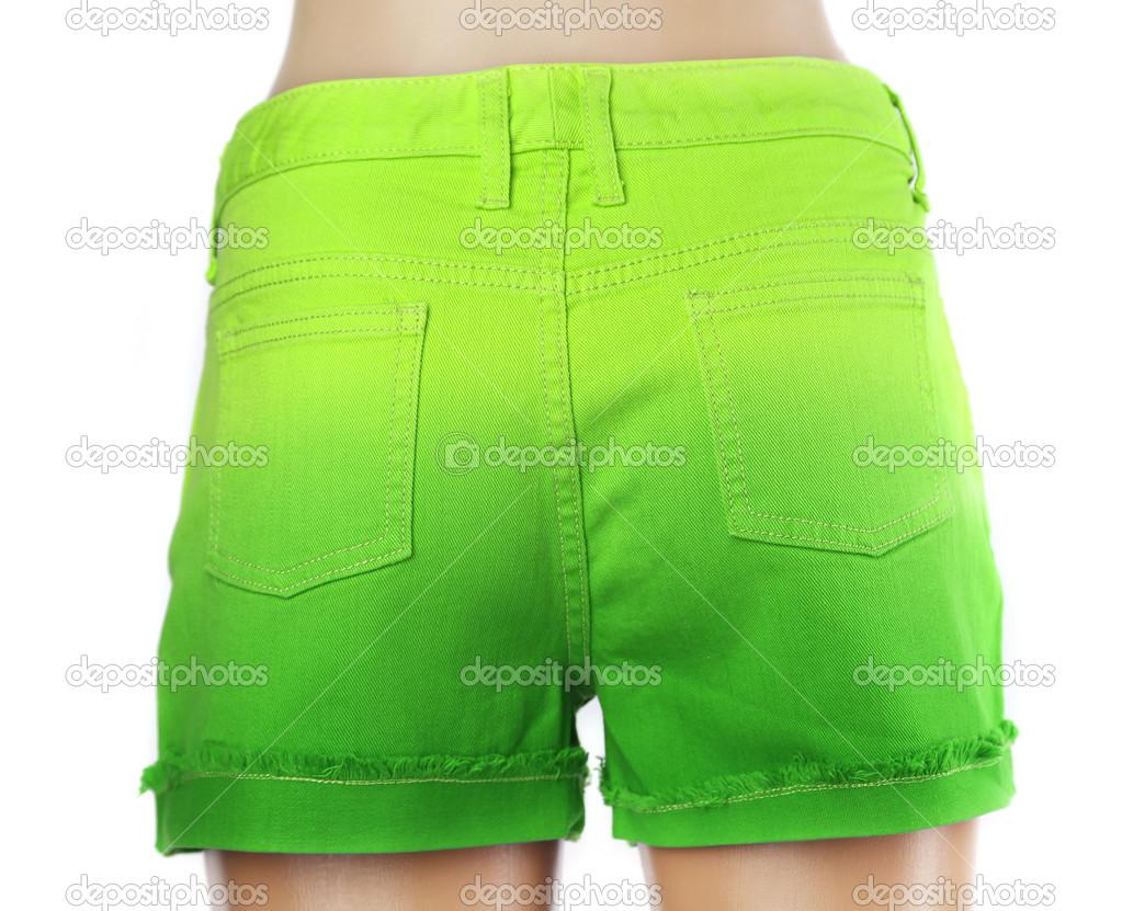 2fb9d8935b Grüne Damen-Jeans-kurze Hosen — Stockfoto © indigolotos #43085649