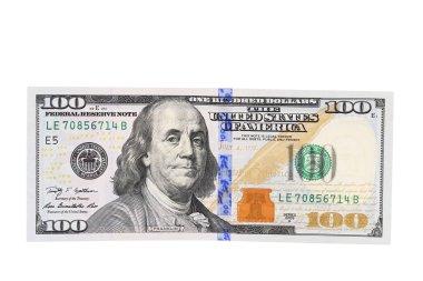 New one hundred dollar bill.