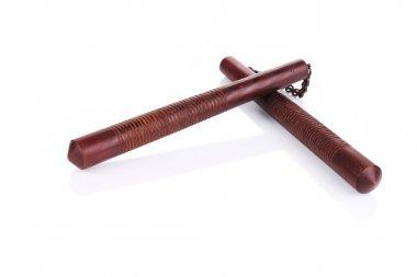 Martial arts nunchaku weapon.