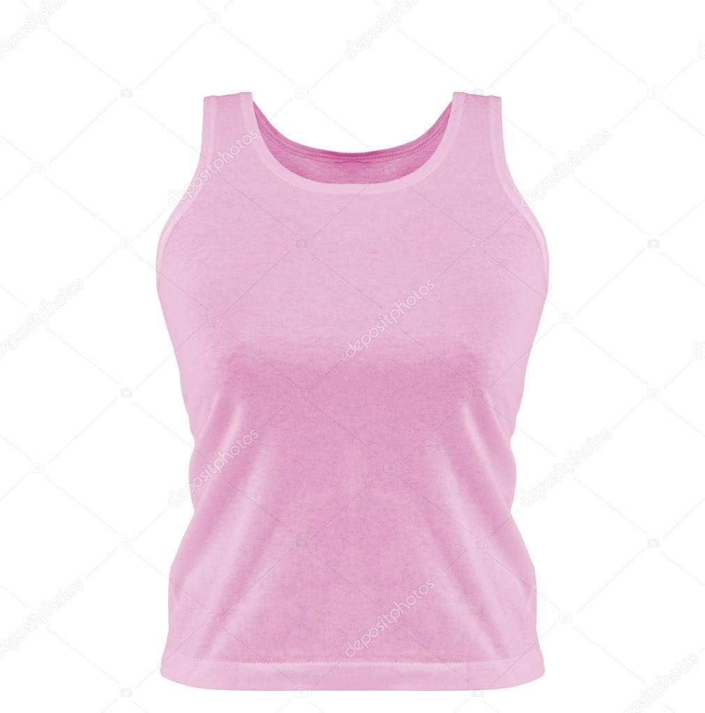 3142beb36067 Pink tank top. — Stock Photo © indigolotos #46344735