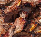 Grilované maso na pita. zblízka