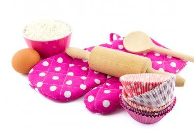 Pink baking utensils
