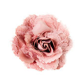 Photo pink brooch flower isolated on white background