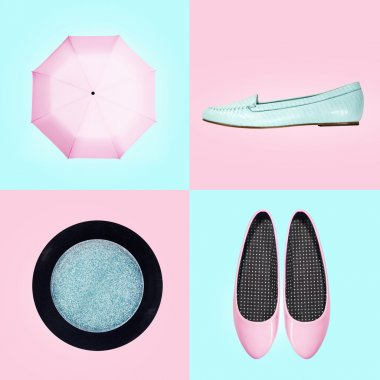Set of footwear and accessories for women
