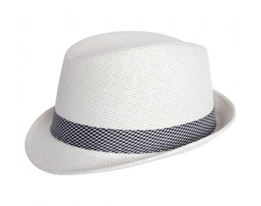 White summer hat isolated on white background