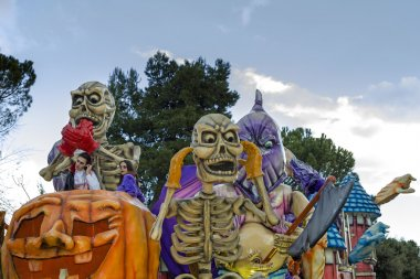 S.Egidio, Italy - March 2, 2014: Carnival float themed Halloween