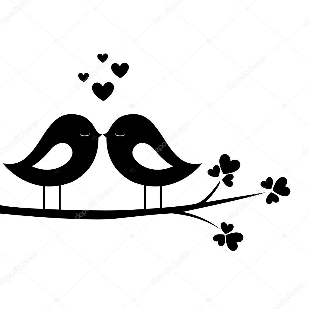 Bird Kiss Stock Vector C L4diseno 28954499