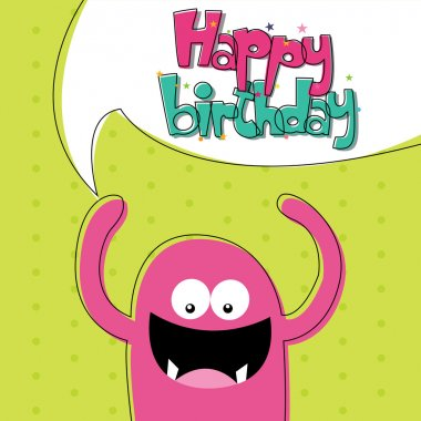 Abstract happy birthday card with special objects clip art vector