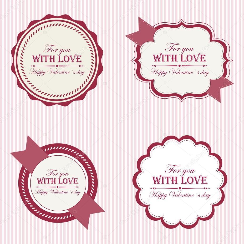 Valentine S Day Labels Stock Vector C L4diseno 37456703