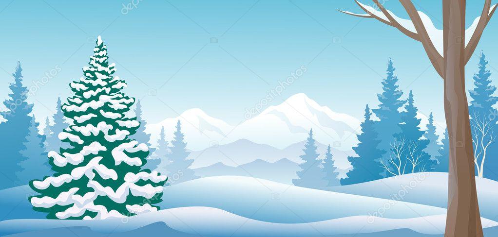 Winter day panoramic