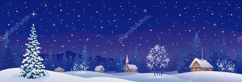Christmas village banner