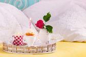 Fotografie Geburtstagsfrühstück im Bett