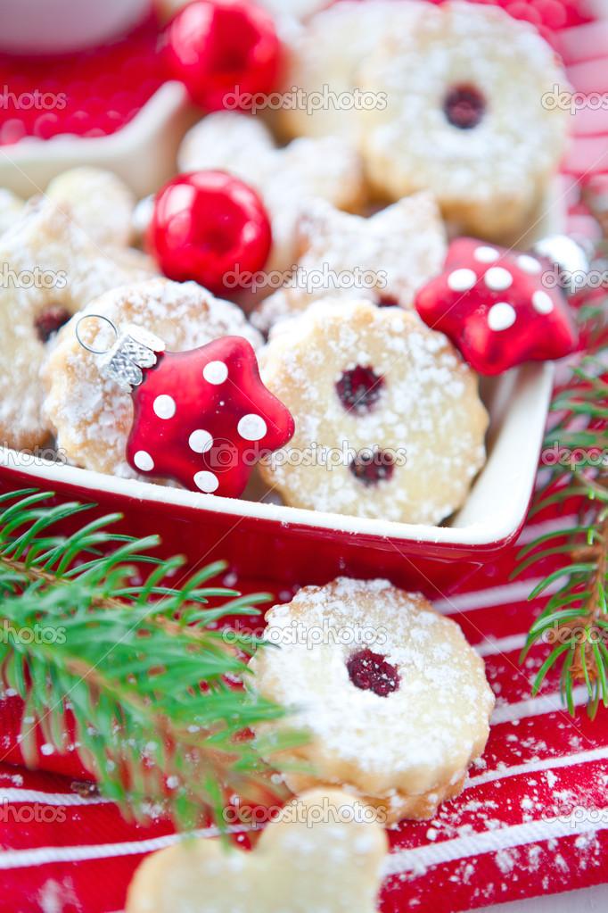 Jam Filled Christmas Cookies Stock Photo C Barbaraneveu 26872667