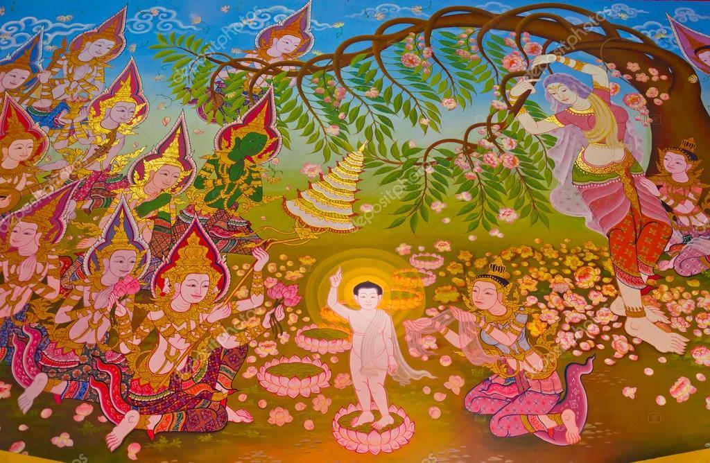 все о рождении будды и картинки расположен небольшой