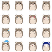 Photo Cute hamster emotional icons