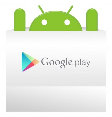 An android appear from Google play bag