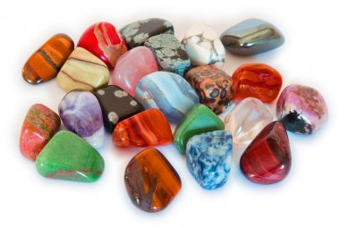Colorful stones closeup (isolated)