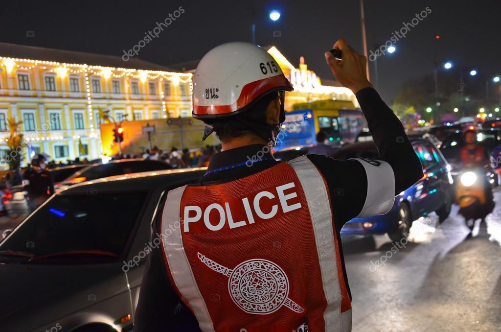 Thai Police on Night Shift