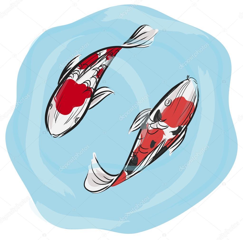 Artisic pittura professionale di pesci carpa koi con for Carpa koi prezzo