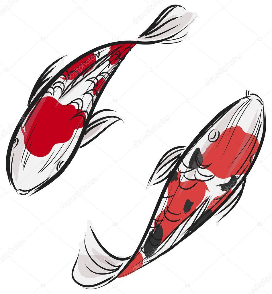 Artisic pittura professionale di pesci carpa koi con for Prezzo carpa koi