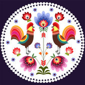 polnische folklore stickerei floral muster f r karte. Black Bedroom Furniture Sets. Home Design Ideas