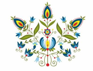 Polish folk with ornamental floral