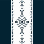 Photo Polish folk pattern - navy blue