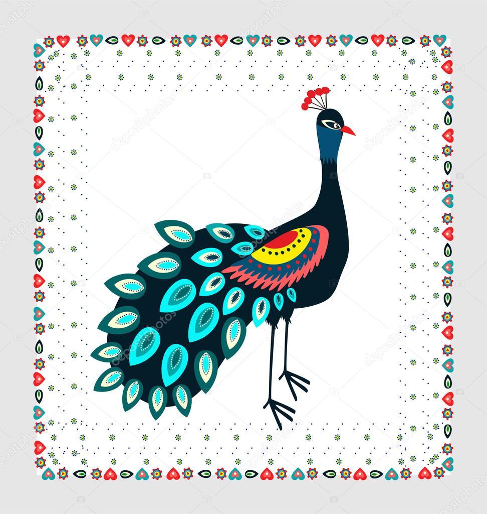 bordado del pavo real — Archivo Imágenes Vectoriales © Bridzia #46866587