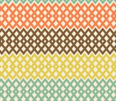 Geometric colorful seamless pattern. Netting structure. Abstract tiles background