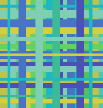 Seamless geometric linear pattern. Endless blue and green abstract background