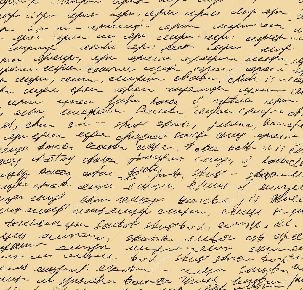 Letter Endless Pattern Script Seamless Background Sketch