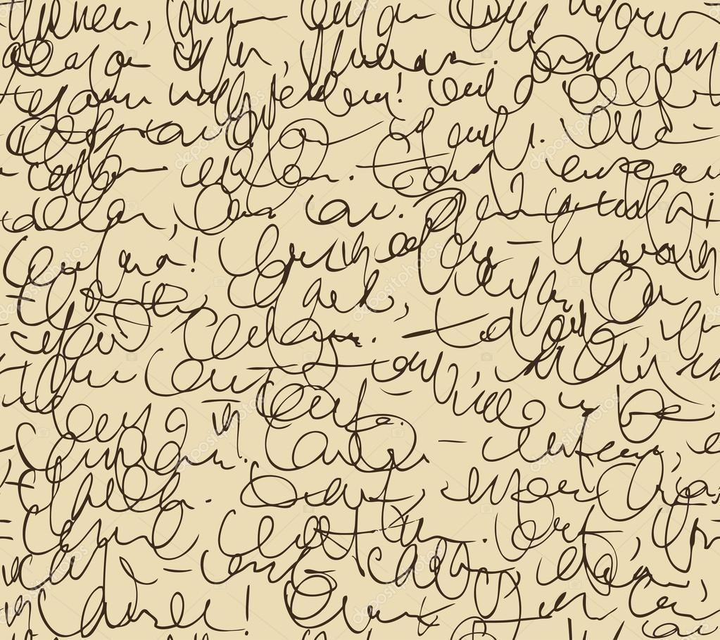 patrón interminable carta. fondo transparente de script. bosquejo de ...