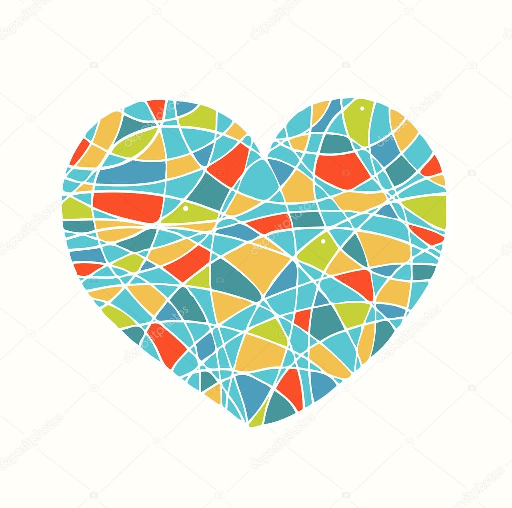 aislados en blanco corazón dibujado. imagen de amor. corazón lindo ...