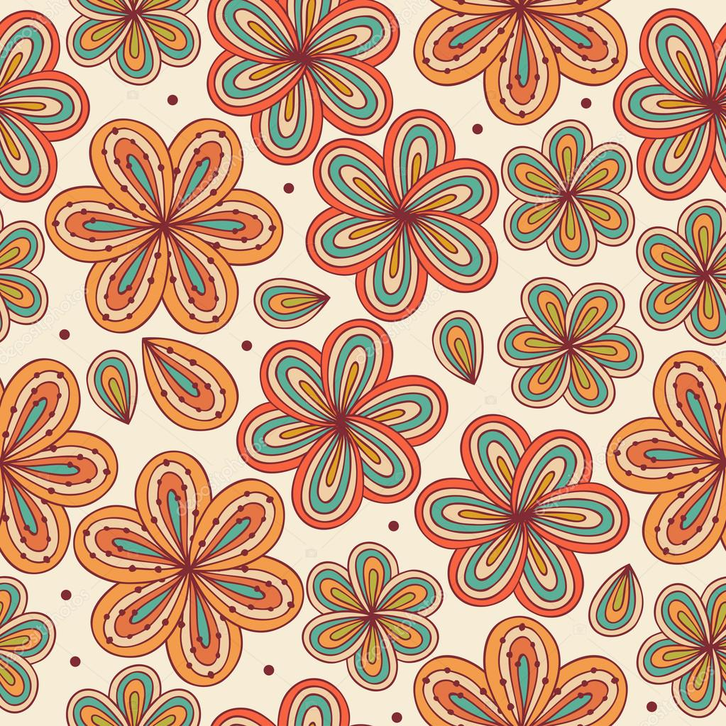 Curtain Texture Seamless colorful floral seamless pattern. contrast fabric texture with